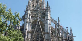 Eglise Saint-Maclou et vieille ville de Rouen